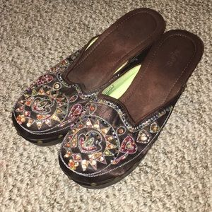 Shoes - Beaded Clogs
